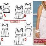 Patrón para vestido o top sin mangas (fácil)