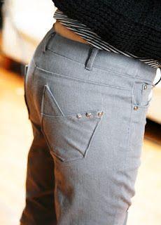 patron gratis pantalon pitillo burda