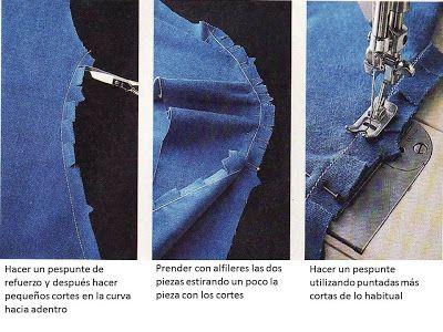 como hacer costuras curvas