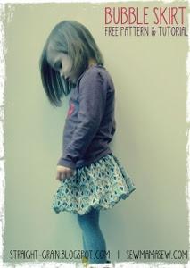patron falda globo niña