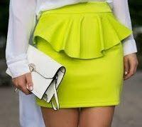 patron y tutorial falda con peplum