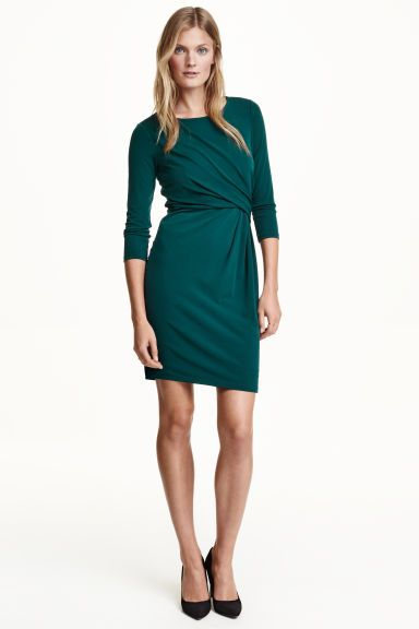 vestido drapeado H&M