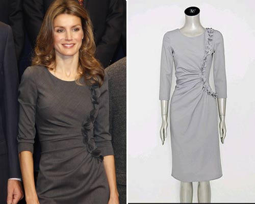 Patrón gratis vestido princesa Letizia