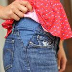 cómo transformar unos pantalones en pre-mamá