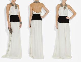 vestido de fiesta largo Victoria Beckham