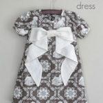 patrón y tutorial vestido de niña con lazo