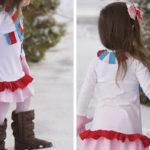cómo hacer un vestido de niña con unas camisetas