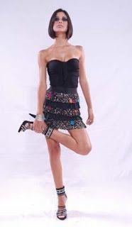 falda de fiesta con abalorios