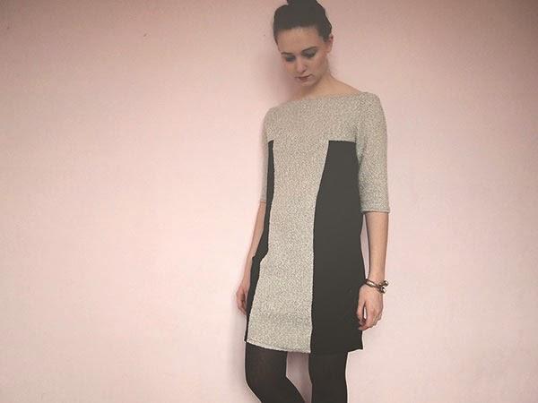 vestido con bloques, patrón y tutorial