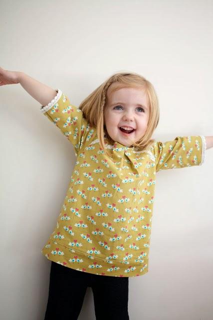 patrón y tutorial blusa para niña