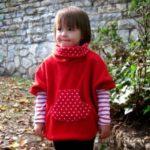 patrón y tutorial de poncho para niños