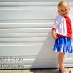 tutorial falda de flecos infantil con dos camisetas