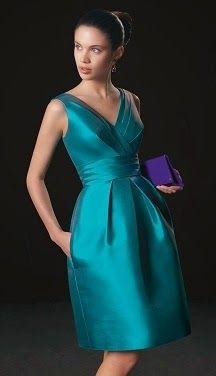 patron vestido elegante escote en V