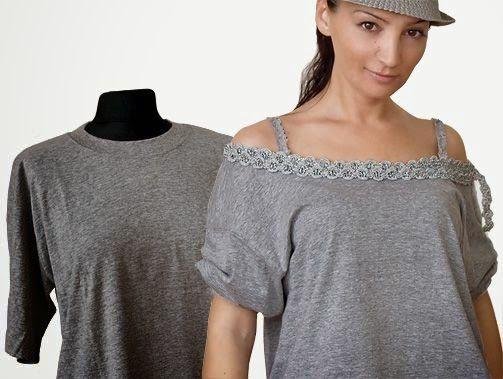 DIY otra idea para transformar una camiseta de hombre
