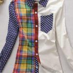 patrón de blusa básica con color block