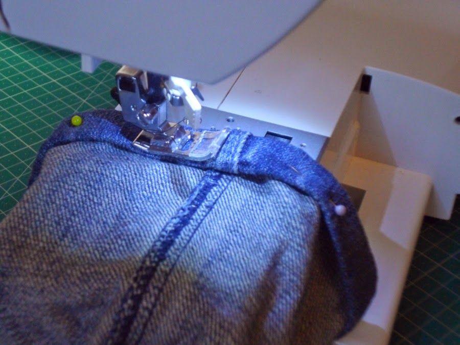 Truco para evitar romper agujas al hacer el dobladillo de los pantalones vaqueros