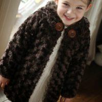 patrón y tutorial abrigo niña