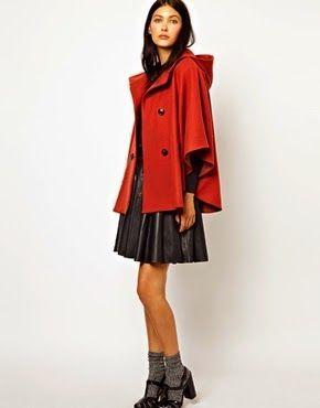 patrón de capa con capucha