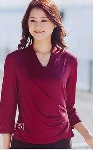 patrón de blusa cruzada con drapeado