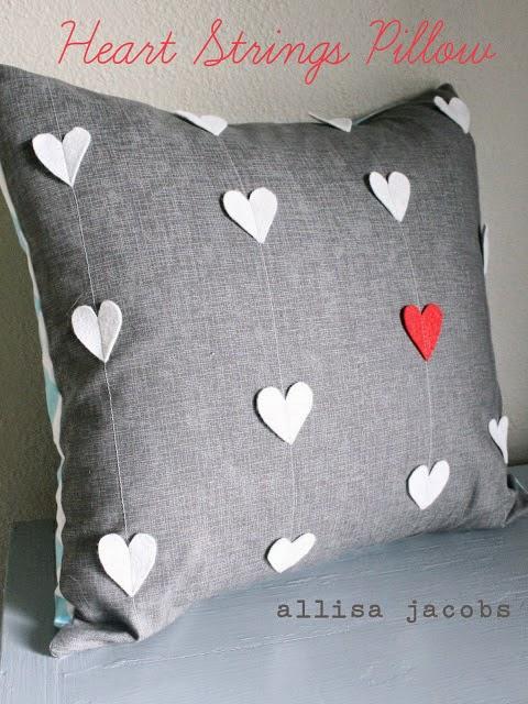 varias ideas de costura para San Valentin