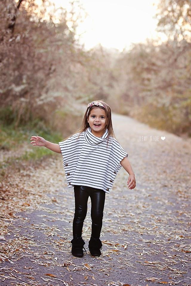 tutorial: poncho infantil de primavera con cuello