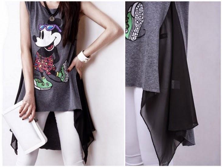 personalizar una camiseta con un acabado asimétrico