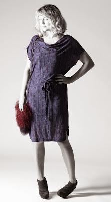 patrón vestido y blusa con escote drapeado