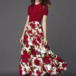 patron gratis falda larga hippie estilo Doce & Gabbana