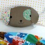 Patrón gratis: cojín cabeza de perrito (o gato o ratón....)