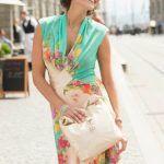 vestido de verano y bolso de polipiel (Bernina)