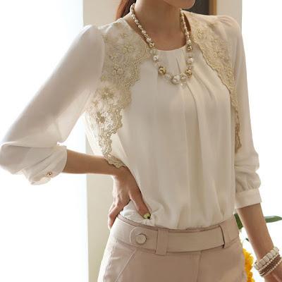 personalizar una blusa con encaje