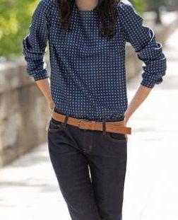 Patrón gratis: blusa manga larga y 4 looks diferentes