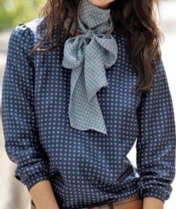 patron de blusa con manga larga