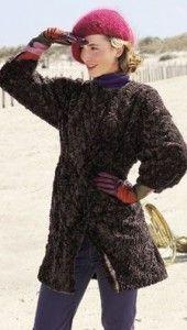 patron gratis de abrigo de tela de peluche