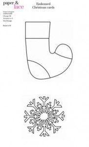 calcetin y copo de nieve