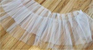 falda de tul.capas cortadas