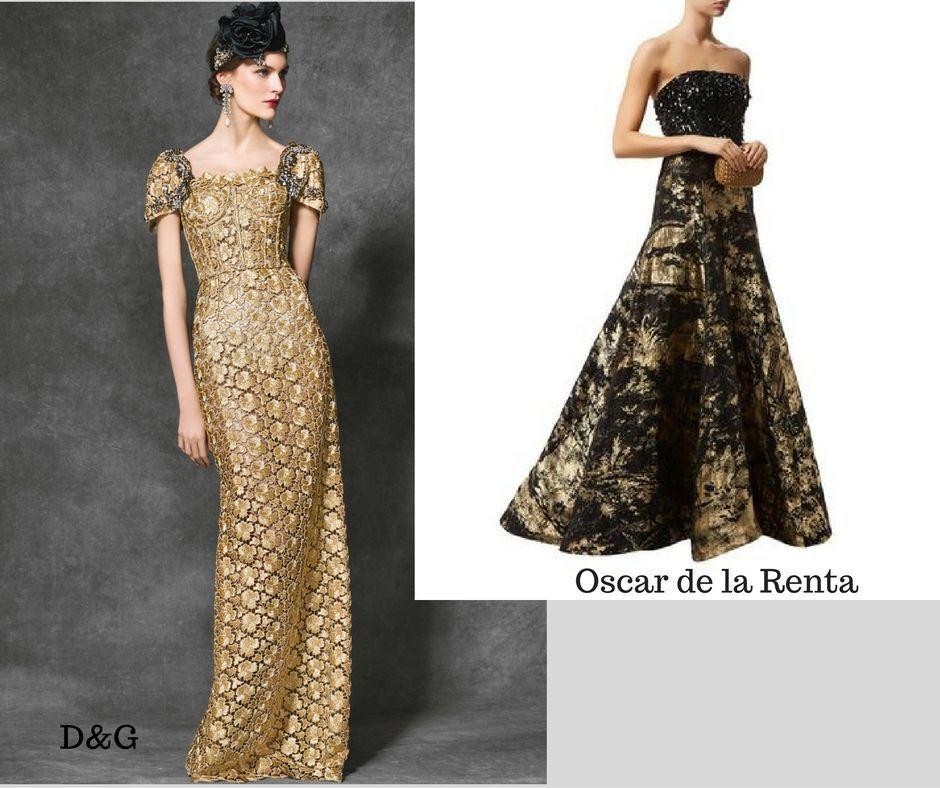 vestidos largos de brocado