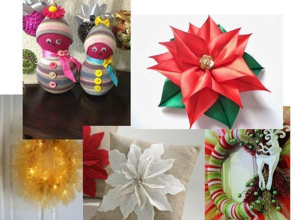 Adornos f ciles de navidad yo elijo coser for Adornos faciles para navidad