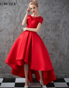vestido de gala asimetrico