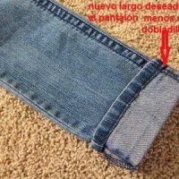 acortar pantalon manteniendo remate original