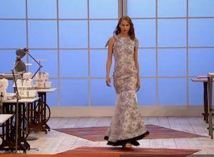 maestros de la costura vestido de inspiracion flamenca