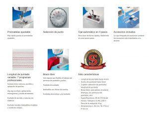 características máquina de coser Singer 8280 Mercury
