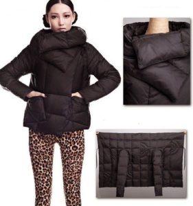 como hacer un abrigo con un rectángulo de tela