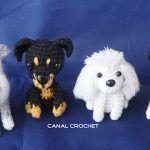 Patrón amigurimi: 4 perritos a elegir