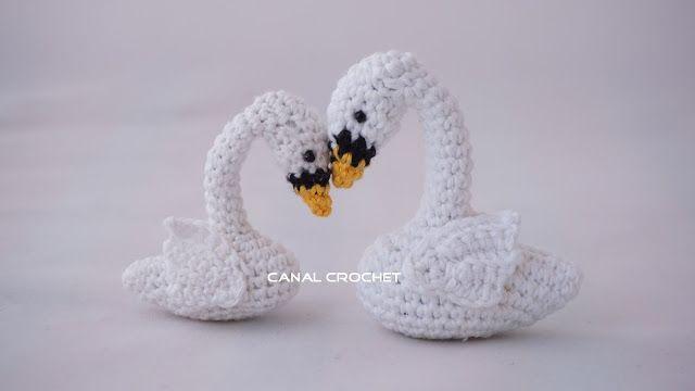 patrón cisnes amigurimi