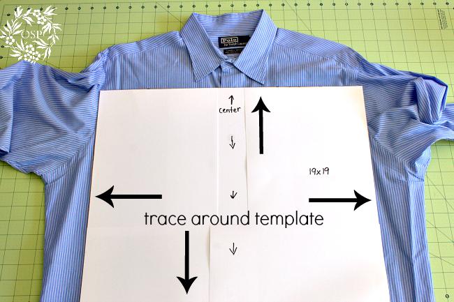 como hacer un cojin con una camisa