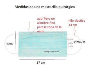 patrón de mascarilla quirurgica
